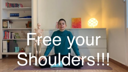 Grandma Yoga #2: Stiff in the shoulders? Super slow head roll!