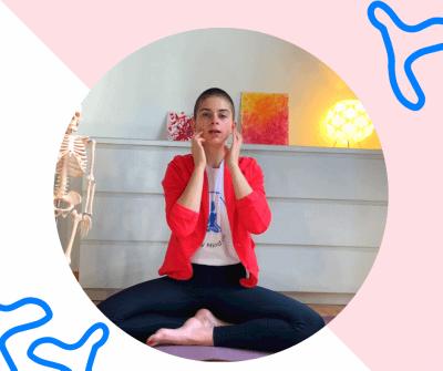 fun yoga exercise breathing