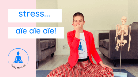 12- I am so stressed… Yoga from your sofa.